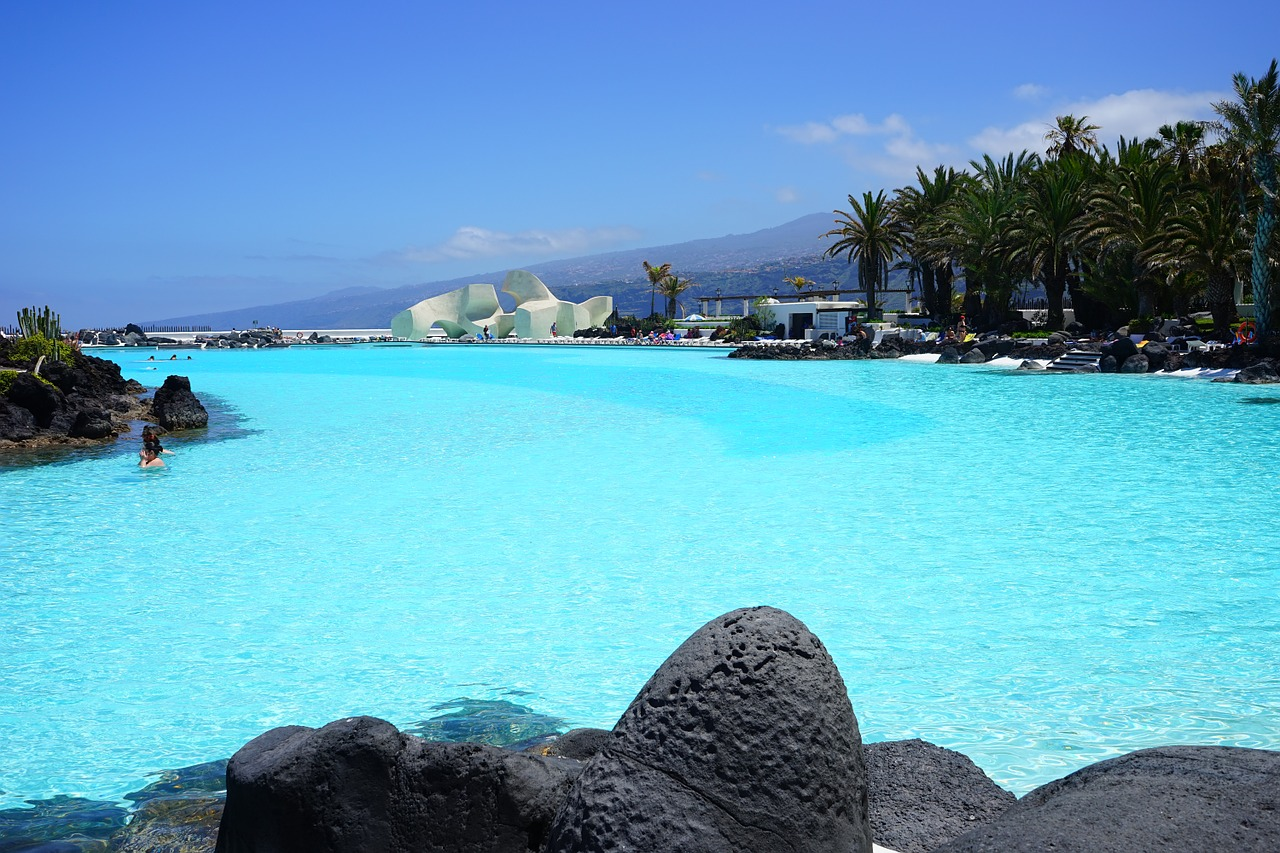 piscina de agua salada