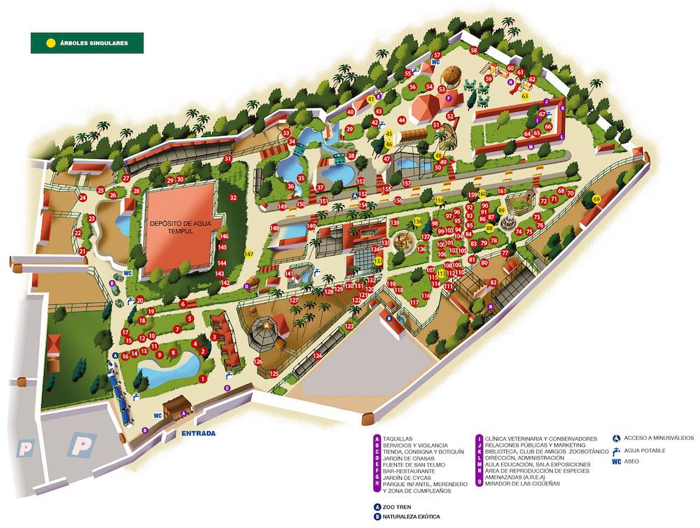 plano zoobotanico jerez