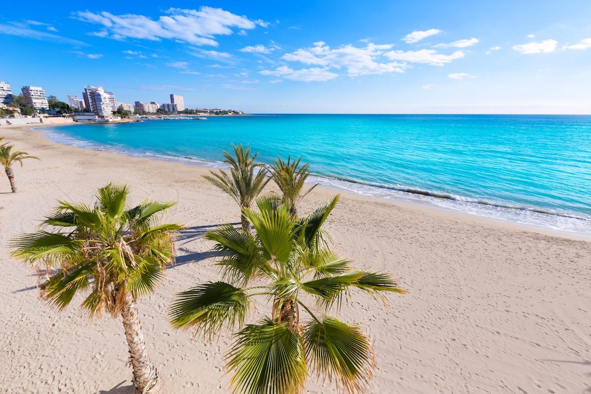 Playa albufereta en alicante