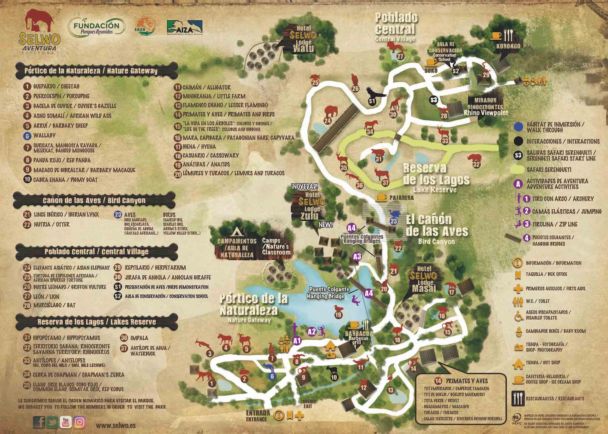 mapa selwo aventura