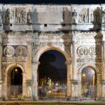 Arcos de Constantino, Septimio Severo y Tito