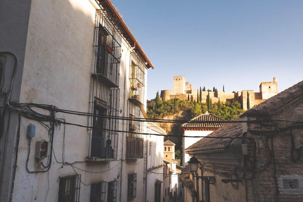 Calle del barrio del Albaicín