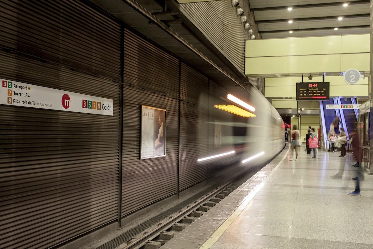 estacion metro valencia