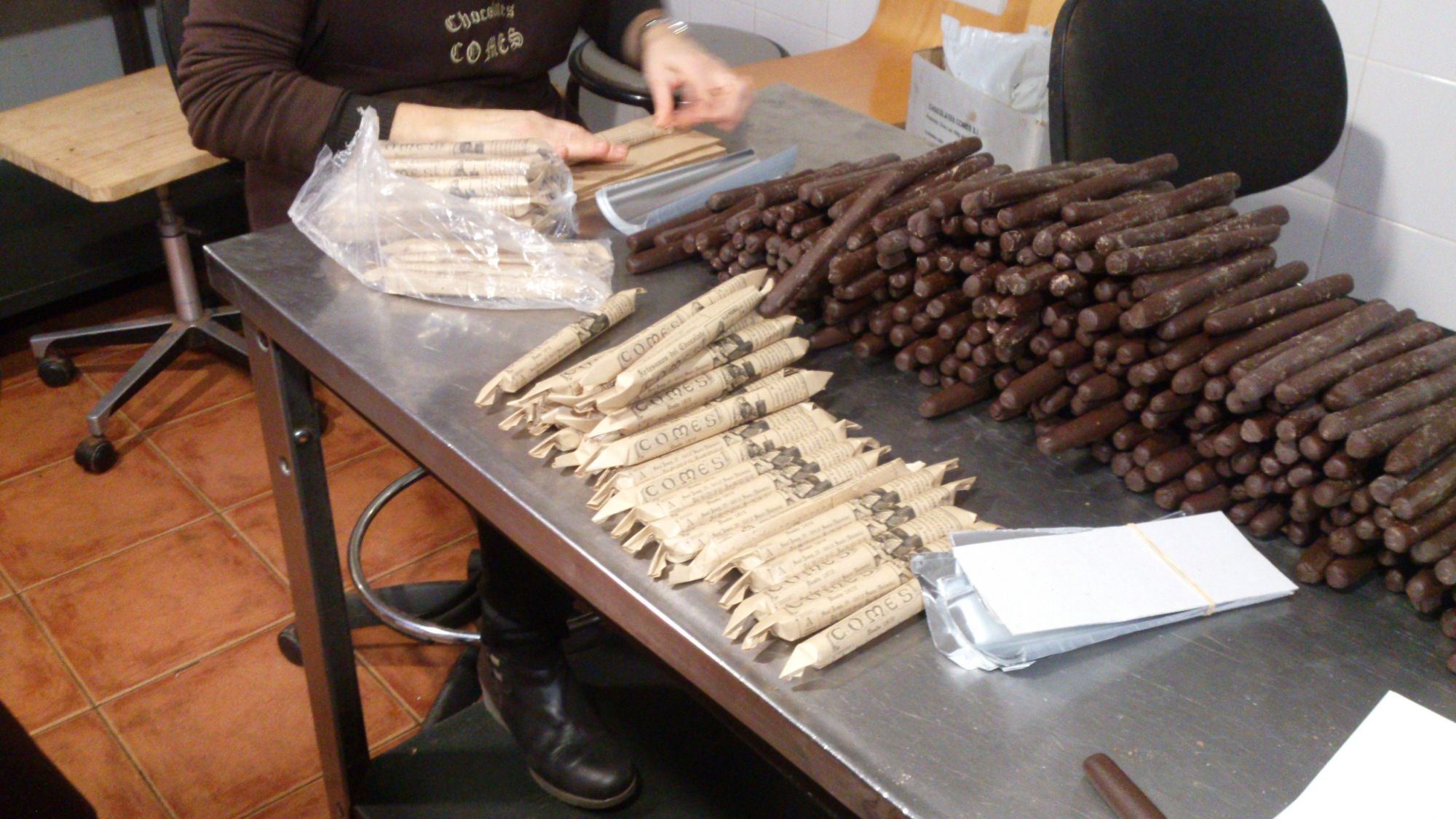 chocolate comes