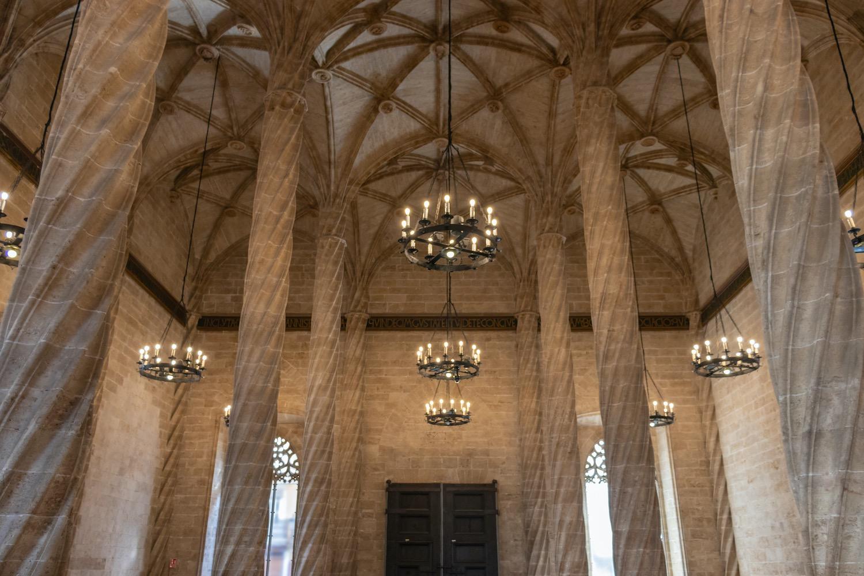 Interior de la lonja de la seda