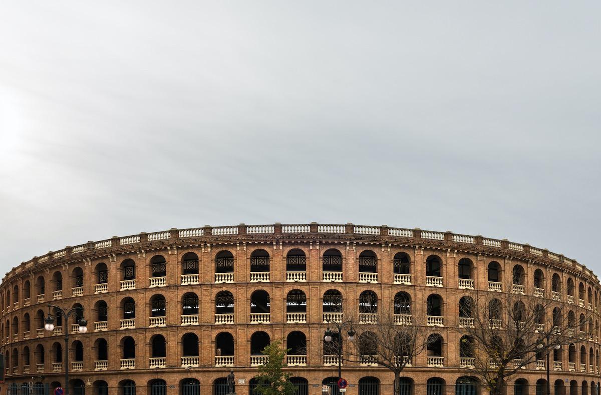 Panorámica de la plaza de toros de valencia