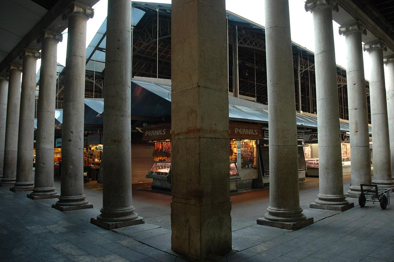 columnas mercado de la boqueria