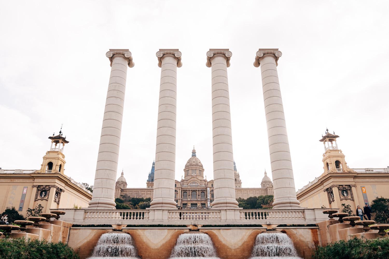 columnas montjuic