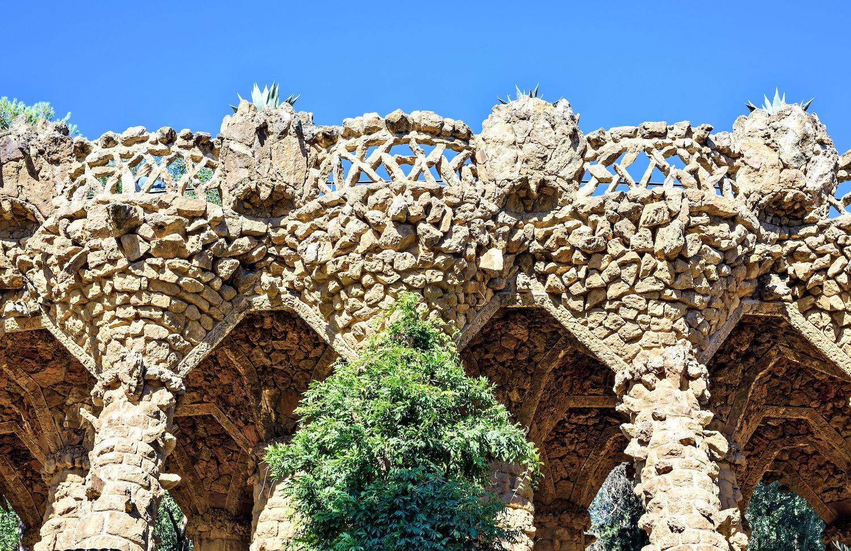 columnas parque güell