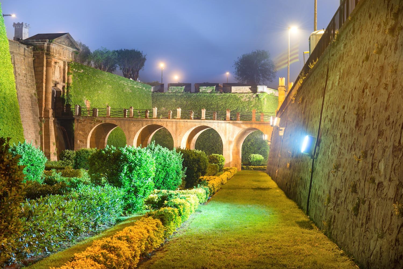 parque de la ciudadela de noche