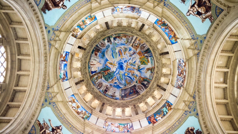 techo del palacio nacional de montjuic